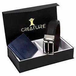 Creature Male Leather Belt Wallet Combo Set