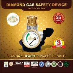 Gas Safe Brass Diamond LPG Vertical Safety Device, For Home
