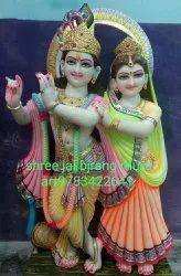 White Marble iscon Radha Krishna Statue