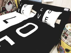 Love Word Embroidered Bed Sheets