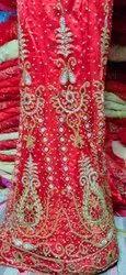 Net Semi-Stitched Wedding Lehenga, Size: Free Size