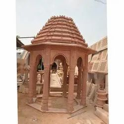 Red Marble Stone Chatri