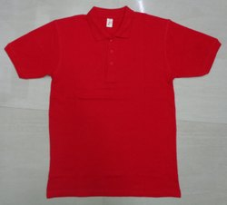 Cotton Half Sleeve Men Solid Polo T Shirt