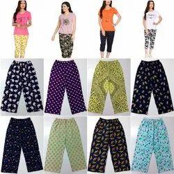 Multicolor Ladies Women Cotton 3/4 Capri, Size: L.XL.XXL.3XL