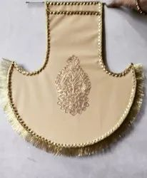 Golden Fabric Handcrafted Wall Hangings, For Decoration, Size: 24*20 Inches