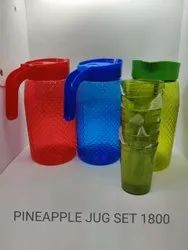 Plastic Jug With Glass