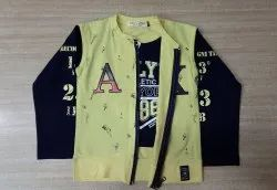 Full Sleeve Casual Jackets Kids Party Wear T Shirt, Size: 16 x36