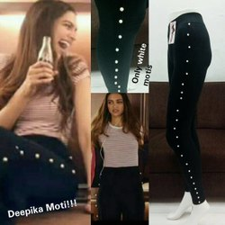 Black Plain Imp Modal Legging, Ladies Legging, Side Moti Jegging, Size: Xl