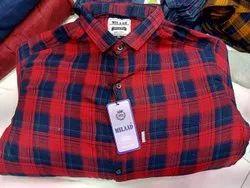 Cotton Men Check Shirts, Size: M L Xl