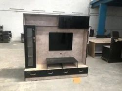 Multicolor Partical Board Wooden Tv Unit, For Home, Home, Office Or Hotel