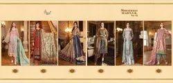 Pakistani Palazzo Shree Fabs Maria B Embroidered Suits Vol 12