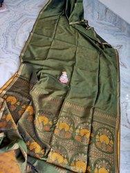 Organic Linen Zari Weave Sarees