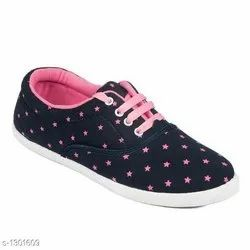 Canvas shoes Blue & pink Footwear, Size: 5 6 7