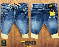 Denim Faded Mens Jeans, Waist Size: 28-34 & 30-36