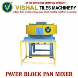 Mild Steel Paver Block Pan Mixer