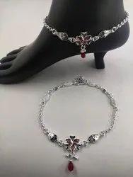 Bridal Silver Anklets (Payal)