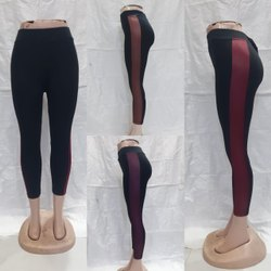 Ladies Legging , Rib Legging , Leather Patti Jegging , Women Leather Patti