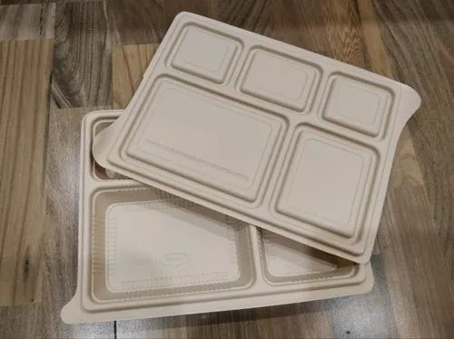 Corn starch 5 cp meal tray with lid