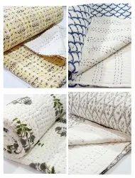 Jaipuri Handmade Cotton Kantha Quilt