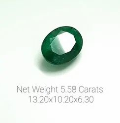 Natural Emerald Oval 5.58 Carat