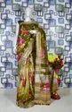 Digital Printed Pure Linen Saree