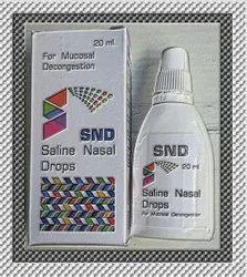 SND Saline Nasal Drops, Packaging Type: Bottle, Packaging Size: 20 Ml