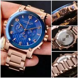Analog Rose Gold Mont Blanc Watches For Personal Use