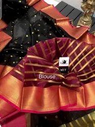 Banarasi Muslin Kora Organza Silk Saree