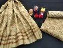 Hand Block Printed Chanderi Silk Fabric
