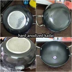 Multiple Aluminium Hard Anodized Kadai, For Kitchen, Size: 1-6