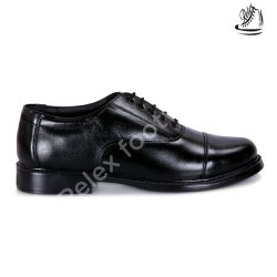 Lace Up Black Formal Force Shoes, Size: 8