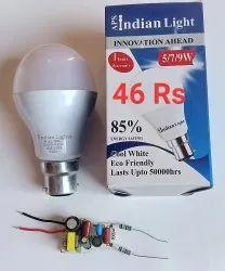 B22 Aluminum 9W LED Light Bulb, 2700-3000 K