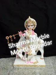 Gau Gopal Marble Statues