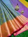 Banarasi Kora Muslin Tanchoi Silk Saree
