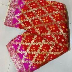 Banarasi Bandhej Ghatchola Sarees