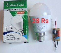 Warm White B22 9 Watt AC LED Bulb