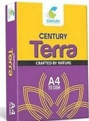White CENTURY Terra A4 Copier Paper, For Print, GSM: Less than 80