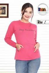 Smile Full Sleeve Ladies T Shirt