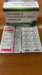 Aceclofenac 100Mg + Thiocolchicoside 4Mg Tablets
