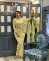 Women soft net designer saree
