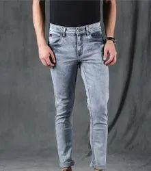 Plain Regular Fit Mens Jeans, Waist Size: 32