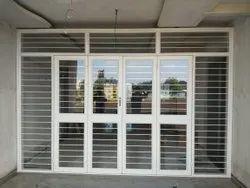 White Powder Coated Galvanized Iron Balcony French Door
