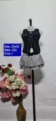 R 22x32 Black Kids Skirt Top