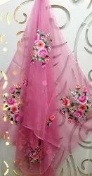 Ladies Hand Painted Dress Material