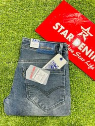 Denim Faded Mens Jeans, Waist Size: 28-34