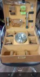 Portable Leatherette Briefcase Bar Set