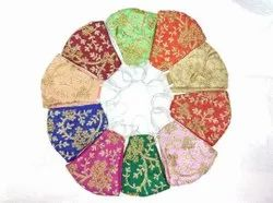 Art silk Reusable Embroidered Face Mask, For Personal use or for gifting, Number of Layers: 2