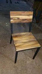 Metal Wood Cafeteria Chair