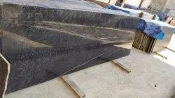 Polished Black Galaxy Granite Slab, For Countertops, Thickness: 18 mm