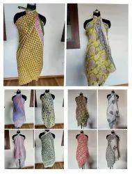 Women Hand Block Printed Cotton Beach Wear Sarong Wholesaler